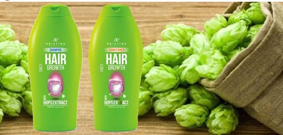 Шампоан и балсам хмел за растеж на косата